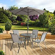 Pagoda Elba 4 Seat Dining Set With Parasol