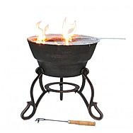 Gardeco Safir Cast Iron Fire Pit With BBQ Grill