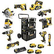 DeWalt 10 Piece ALL Brushless 18v Cordless Powertool Kit 4 x 5.0Ah Batteries