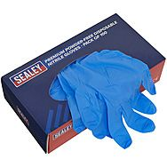 Sealey 100 Pack Disposable Nitrile Gloves Large