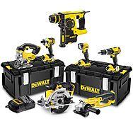 DeWalt 7 Piece 18v XR Cordless Power Tool Kit With 3 x 4.0Ah Batteries - DCK691M3 + DCH253N