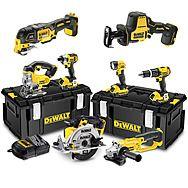 DeWalt 8 Piece XR 18v Cordless Power Tool Kit With 3 x 4.0Ah Batteries - DCK691M3 + DCS355 + DCS369