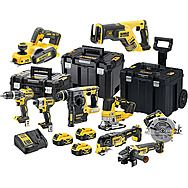 DeWalt 9 Piece All Brushless 18v Cordless Powertool Kit DCK755P3T + DCP580 + DCS367