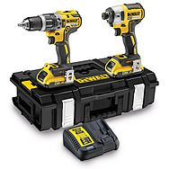 DeWalt DCK266D2 18v XR Brushless Twinpack - DCD796 Combi Drill & DCF887 Impact Driver 2 x 2.0Ah Batteries