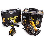 DeWalt DCK2056T2T DCD996 18V Hammer Drill & DCS575 54V FlexVolt Circular Saw with 2 x 6.0Ah Batteries