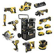 DeWalt 18v XR 10 Piece Powertool Kit 4 x 5.0Ah Batteries - DCK853P4 + DCW210 + DCP580