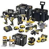 DeWalt 18v XR 10 Piece Power Tool Kit 3 x 5.0Ah Batteries - DCK755P3T + DCP580 + DCW210 + DCW604