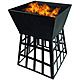 Redwood Fire Pit With BBQ Grill