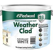 Fleetwood Weather Clad White Exterior Masonry Paint 10L
