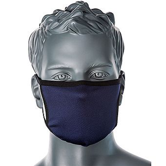 Portwest CV30 3-Layer Reusable Face Covering Navy Mask