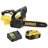 DeWalt DCM565P1 18V Brushless XR Cordless Chainsaw 30cm With 1 x 5.0Ah Battery