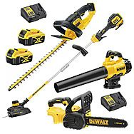 Mega DeWalt Cordless 18v XR Gardening Powertool Kit 2 x 5.0Ah Batteries