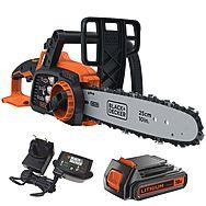 Black & Decker GKC1825L20 25cm Cordless Chainsaw 18V 1 x 2.0Ah Battery
