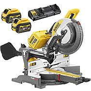 "DeWalt DHS780T2 54V XR 305mm FlexVolt Dual Mitre Saw 12"" 2 x 6.0Ah Batteries"
