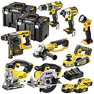 DeWalt 8 Piece 18v XR Cordless Powertool Kit 3 x 4.0Ah Batteries - DCK699M3T + DCG412 + DCP580