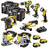 Dewalt 18v XR 7 Piece Cordless Powertool Kit With 3 x 4.0Ah Batteries DCK699M3T + DCG412