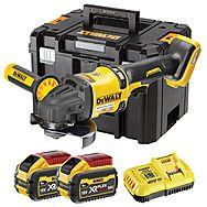 DeWalt DCG418X2 54V FlexVolt High Power 125mm Angle Grinder 2 x 9.0Ah Batteries