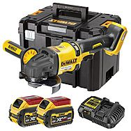 DeWalt DCG418T2 54V FlexVolt High Power 125mm Angle Grinder 2 x 6.0Ah Batteries