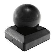 TIMco Black Ball Fence Post Cap