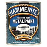 Hammerite Direct To Rust Metal Paint Hammered White