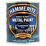 Hammerite Direct To Rust Metal Paint Hammered Blue