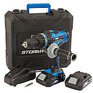 Draper 89523 20V Combi Hammer Drill 2 x 2.0Ah Batteries