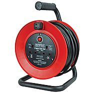 Faithfull CR2513 25m Cable Extension Reel 230v