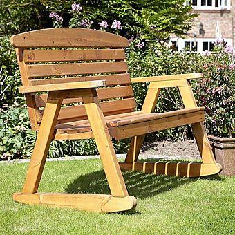 Hetton Wooden Rocking Bench