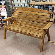 Large Hetton Wooden Bench Seat