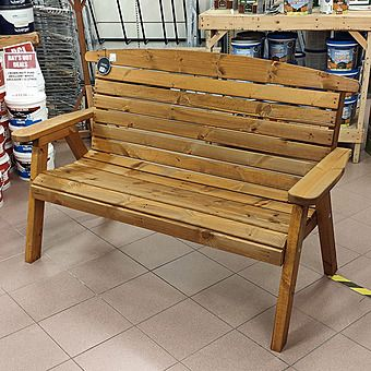 Large Hetton Wooden Bench Seat