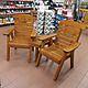 Hetton Wooden Companion Love Seat Set