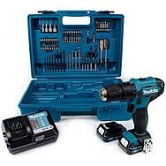 Makita HP333DWAX1 12Vmax Combi Drill, Accessories, 2 x 2.0Ah Batteries