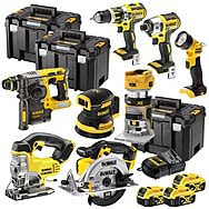 DeWalt 18v XR 8 Piece Cordless Powertool Kit With 3 x 4.0Ah Batteries DCK699M3T + DCW210 + DCW604