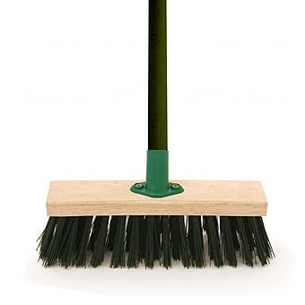 "11"" Green PVC Complete Broom"