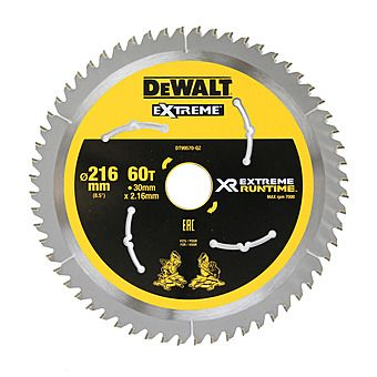Dewalt DT99570 XR 216mm x 30mm 60T FlexVolt Mitre Saw Blade