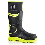 Buckbootz BBZ8000 Black & Yellow Hi-Vis S5 Wellington Boots