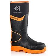 Buckbootz BBZ8000 Black & Orange Hi-Vis S5 Wellington Boots