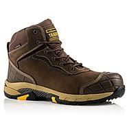 Buckbootz Tradez BLITZ BR Lightweight Waterproof Brown Safety Boots
