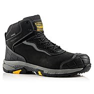 Buckbootz Tradez BLITZ BK Lightweight Waterproof Black Safety Boots