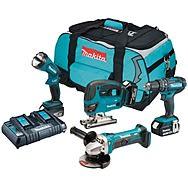 Makita DLX4051PM1 4 Piece 18v LXT Power Tool Kit 3 x 4.0Ah Batteries
