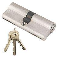 ERA Euro Cylinder Lock 40mm x 40mm 6 Pin Nickel