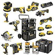 DeWalt 18v XR 11 Piece Cordless Power Tool Kit  4 x 5.0Ah Batteries - DCK853P4 + DCP580 + DCW210 + DCW604