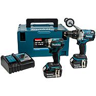Makita DLX2176TJ 18v Brushless Twin Pack DHP841 & DTD154 2 x 5.0Ah Batteries