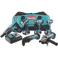 Makita DLX6075M 6 Piece Cordless Powertool Set 18v 3 x 4.0Ah Batteries