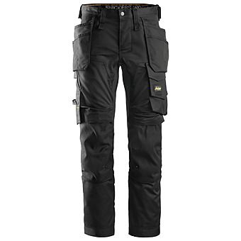 Picture of Snickers 6241 AllroundWork Stretch Trousers Steel Grey/Black