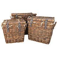 Manor Rattan Washington Log Basket