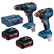 Bosch 0 601 9J2 270 18v Combi Drill & Impact Wrench/Driver Twin Pack 2 x 4.0Ah Batteries