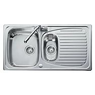 Reversible Stainless Steel Kitchen Sink 1 And A Half Bowl