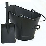 Castle Living Waterloo Coal Bucket & Shovel - Black