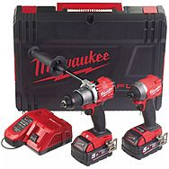 Milwaukee M18 FPP2A2-502X FUEL Combi Hammer Drill & Impact Driver 2 x 5.0Ah Batteries | 4933464269